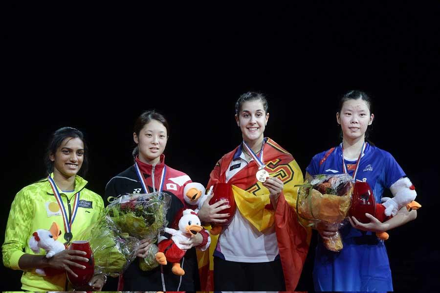Carolina Marín se erige en campeona del Mundo de bádminton