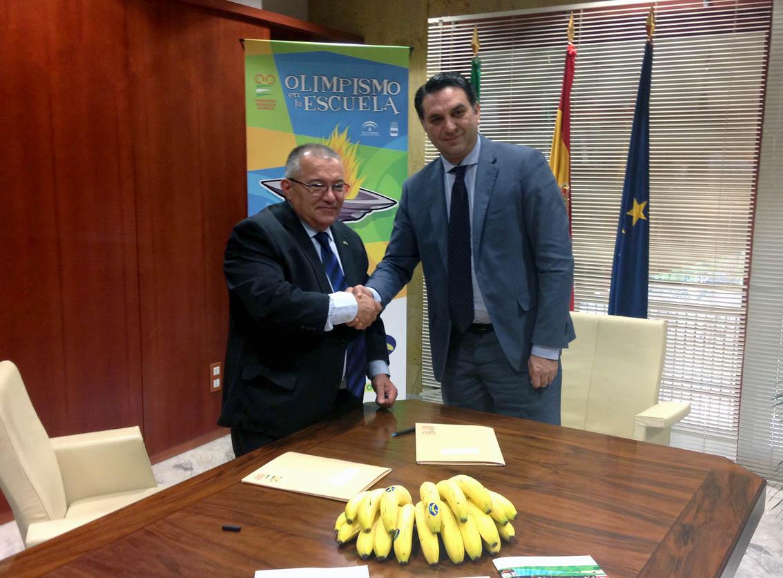 La Fundación y Plátano de Canarias se alían en la difusión de los valores olímpicos y hábitos de alimentación saludable