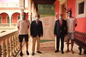 Firma del convenio entre la Fundación Andalucía Olímpica y la Fundación Cajasol.