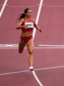 2021 JJOO Atletimos 100 metros Maribel Perez