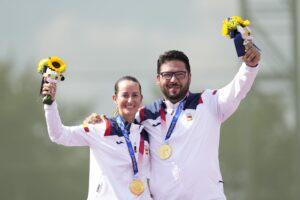 2021 Juegos Tiro Galvez oro foso olimpico